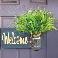 Decorative Flowers & Wreaths 4Pcs Artificial Boston Fern Plants Plastic Shrubs Greenery For House Outdoor Garden Office Decor SDF-SHIP