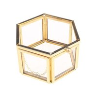 Jewelry Pouches, Bags 2021 Geometrical Clear Glass Box Organize Holder Tabletop Succulent Plants Container Home Storage