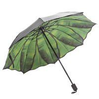 Umbrellas Fashion Banana Leaf Umbrella Rain Women Protection For Men Windproof Foldable