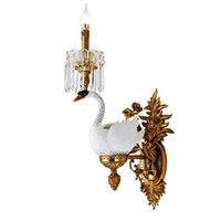 Lampadario cinese grossista in ottone e pendente in cristallo con lampade a sospensione in ceramica bianca in ceramica realizzate in Zhongshan Guzhen