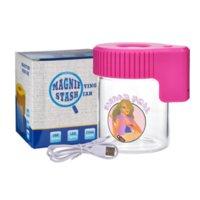 Lady Hornet LED Стеклянные Светодиодные Оамериканские Курение Аксессуары Аксессуары Розовая Система Ящик Для Хранения Бак Прозрачные Стекло Световые Барки