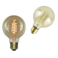 Edison Birne 40W Glühlampen Antike Glühlampen Dimmable Eichhörnchenkäfigfilament E27 E26 E14 E12 Base G80 110V 210V Crestech168