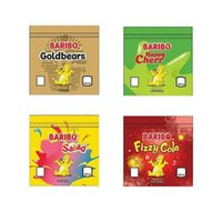 Baribo Lezzet Çanta Gummies Baggie Boş Ambalaj 600 mg Çanta Sakızlı Ekşi Fermuar Kuru Perakende Paketi