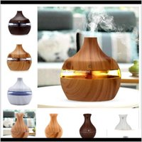 Oils Diffusers Fragrances Décor & Garden6 Coloair Humidifierrs Humidifier Wood Grain Aroma Essential Oil Diffuser Ultrasonic Air Purifier For