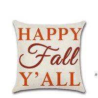 45 * 45 cm Funda de almohada Cubierta de almohada Feliz otoño Día de Acción de Gracias Día suave Ropa de almohada Cubierta Cubierta Cubierta Cubierta Decoración para el hogar FWE7248