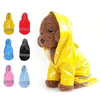 كلب الملابس بالجملة pet القط المعطف مقنعين جرو معطف المطر صغير بو سترة عاكسة للماء للكلاب الملابس في الهواء الطلق