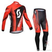 Hombre scott equipo ciclismo jersey traje manga larga MTB camisa de bicicleta y pantalones conjuntos transpirables trajes de bicicleta de carretera Ropa de carreras Ropa Ciclismo Y21071618
