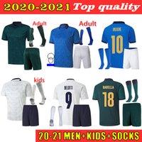 Италия футбол для футбола 2021 2022 Italia Barella Sensi Insigne 20 21 22 Европейский евро Кубок евро Кубок Chiellini Football Jersey Рубашка для взрослых + детский комплект носки