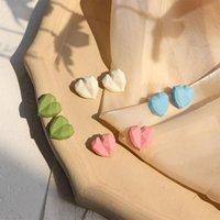 Stud Summer Korean Fashion Sweet Heart Earrings For Women Geometric Dating 2021 Trend Statement Jewelry Friends Gift M4