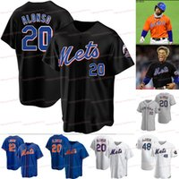 12 Francisco Lindor Mets 2021 Yeni Siyah Formalar York 20 Pete Alonso 48 Jacob Degrom 18 Darryl Çilek 31 Mike Piazza Noah Syndergaard Jersey