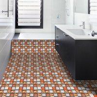 Wallpapers 10pcs3D Mosaic Tile Stickers DIY Decoration Waterproof Wall Floor Wallpaper Home Contact Paper