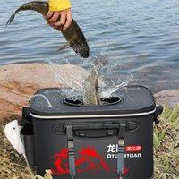 Fishing Accessories 30 35 40 45 50cm EVA Folding Box Multifunctional Live Fish Bucket Thickened Bag Tackle Gear Tank