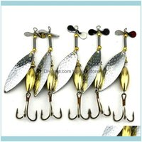 Sports & Outdoorslot 5 Sinking Spinner Spoon Bait Fishing Lure Artificial Hard For Trout Bass Pike Tackle Equipment 15G 9.8Cm Hooks Drop Del