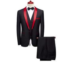 Свадебные костюмы Роскошный костюм для мужчин Высокоцветные мужские смокинг Tuxedo Slim Fit Mens Grotizing Мода Дизайн Воротник Платье Blazers