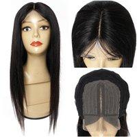 4x1 t dentelle perruque 14-32 pouces cheveux humains indiens partie médiane dentelle avant cueillée de cheveux bébé