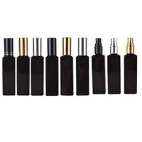 Storage Bottles & Jars 100Pcs Refillable 20ml Travel Black Glass Perfume Atomizer Empty Small Spray Essential Oil Bottle