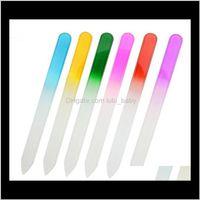 100 unids Archivos de uñas de vidrio Durable Crystal File Buffer Nail Art Fiches para manicure UV Polish Herramienta Nail Art 90 * 10mm EB5TJ UHG72