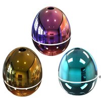 USB Mini Egg Humidifier with Colorful LED Light Portable Egg Tumbler Aroma Diffuser Auto Shut-off Humidifier for Car Home Office HWE6770