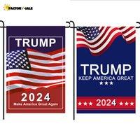 الرئيس دونالد ترامب العلم 30 * 45CM MAGA الجمهوري الولايات المتحدة الأمريكية أعلام مكافحة بايدن أبدا بايدن حملة حديقة مضحكة راية FM22