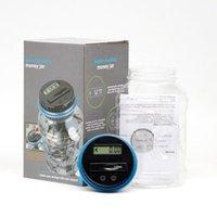 Garrafas de armazenamento frascos caixa de poupança de dinheiro Clear Digital Mealheiro Coin economias contador LCD Contando Jar