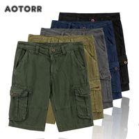 Primavera verão homens cargas shorts algodão relaxado apto homens denim curto calças casuais roupas sociais plus tamanho