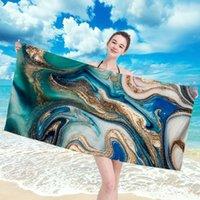 Mikrofaser-Strandtuch extra große Schnelltrocknungspool mit lebhaften Farben für Kinder Erwachsene Yoga-Matte