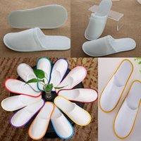 Baño Desechables zapatillas Hotel Toalla de hotel Zapatillas Eva Slipper Men Mujer Flip Floop Blanco Multi Color Interior Barato Slipper 60pcs