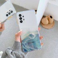 Şeffaf TPU Cep Telefonu Kılıfları iPhone 12 11 Pro Prokax X XS Max 7 8 Artı Samsung S10 S20 Note10 Note20 Altın Mermer Degrade Rampa
