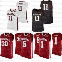 Custom Revers College Basketball майки 12 Остин Рэйвс 11 молодых 21 Kristian Doolittle 35 Brady Manek 15 Alondes Williams
