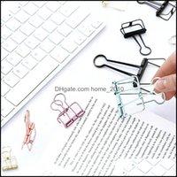 제출 제품 소모품 사무실 학교 비즈니스 산업화 된 100 PC 사랑스러운 중공 스타일의 금속 바인더 클립 / 종이 클립 / 클램프 8 색 F