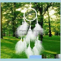 Giardino Arti Regali e Commercio all'ingrosso 1 pz Dreamcatcher India Style Handmade Dream Catcher Net con piume Carilloni del vento Appeso Carft DBTBR