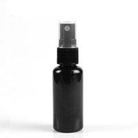 에센셜 오일, 여행, 향수, 비어있는 투명 플라스틱 병에 대한 분무기 펌프와 함께 50ml 60ml 검은 색 미리 미니 스프레이 병 - 재사용 가능한 재사용 가능
