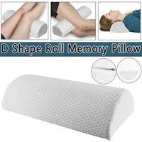 Almofada Memória Espuma Sleep Roll Cusions para Neck Joelho Perna Espaçador Back Lombar Cervical Spine Apoio Mulher grávida