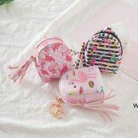 Flamingo حقيبة شكل المفاتيح عملة محفظة سستة محفظة صغيرة شخصية المفاتيح حقيبة محفظة قلادة الأزياء والمجوهرات 6 ألوان DHF6764