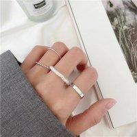 4Pcs Set Fashion Punk Midi Round Twist Ring Set for Women Bohemia Vintage Metal Knuckle Finger Rings Jewelry