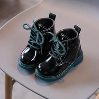 Boots 2021 Shiny Children's Korean Rainy High-top Fashion Non-slip And Warm All-match For Boys Girls