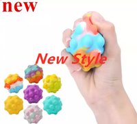 NEW!!! 3D Push Bubble Anti-Stress Ball Silicone Decompression Sensory Squeeze Toy Anxiety Relief Fidget Toy for Kids Adults Gift Wholesale