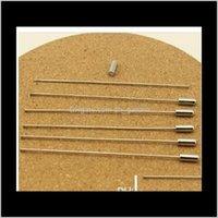 Agujas 10 unidslot 6cm Longitud Color de color Rodio Broche Pin Pines Safety Pins con Tapper Finald F1775 O0SOJ QBRSL