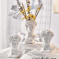 Home Decoration Resina Art Artigianato Artigianato Greco Statua Mitologia David Testa Busto Mini Europa Michelangelo Scultura Schizzo Schizzo Doni di pratica Regali