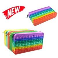 20cm Fidget Toys Wallet Portátil de descompresión Pulsado Burbuja Autismo Sensorial Autismo Especial Necesidades Estrés Relevante Squeeze Toy For Kids Family CY27