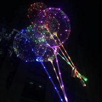 LED BOBO Balon ile 31.5 inç Sopa 3 M Dize Balon LED Işık Noel Cadılar Bayramı Doğum Günü Balonlar Parti Dekor Bobo Balonlar BWF9149
