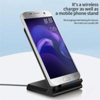 휴대용 빠른 무선 충전기 휴대 전화 홀더 USB QI 수직 충전 패드 유도 듀얼 코일 충전기 2 스타일 선택