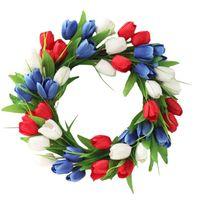اكليل الزهور الزخرفية الاصطناعي حقيقي اللمس الزنبق باقات الزفاف 40 سنتيمتر وهمية الحرير القماش للديكور حديقة المنزل