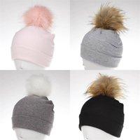 Autumn Winter Kids Girls Solid Velvet Hat With Pompon Baby Beanie Pompom Cap Children's Accessories 28 Y2