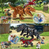 متوافق مع LEGO LEGO BACIZLE DINOSAUR اللبنات، لعبة الجوراسي العالمي Tyrannosurus Rex الأطفال