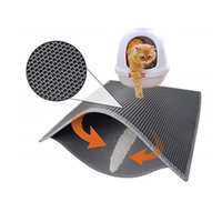 Cat Beds & Furniture Litter Mat Double Layer Waterproof Bed Pad Trapping Box For Cats House Clean Cushion Pads Pets Supplies
