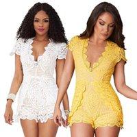 Body Womens 9542 Rompers Sexy Women Lace Short Playsuit Jumpsuit Slim Bodysuit Women's Jumpsuits &