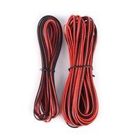 스트립 5m / 10m / lot 22awg 2pin 3528 RGB LED 스트립 와이어 확장 레드 블랙 케이블 코드 전기 CB-22AWG-RB