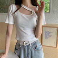Women's T-Shirt Loose Ins Lazy Solid Color Tshirt Female Korean Harajuku T-shirts Tops Japanese Kawaii Ladies Ulzzang Clothes For Women