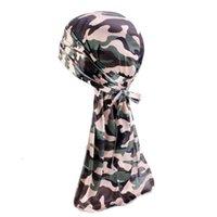 Il nuovo cinturino in seta con cinturino da pirata con cinturino in seta cappello da taglio cappello caldo alimentazione di seta Durag Bonnet per Durag Durag da donna